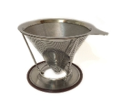 A Stainless Steel Cone Coffee Drip Filter with Holder