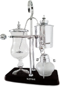A vintage Belgium Syphon Coffee Maker in Silver